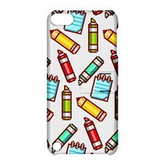 Seamless Pixel Art Pattern Apple Ipod Touch 5 Hardshell Case With Stand