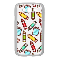 Seamless Pixel Art Pattern Samsung Galaxy Grand Duos I9082 Case (white)