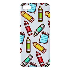 Seamless Pixel Art Pattern Iphone 5s/ Se Premium Hardshell Case