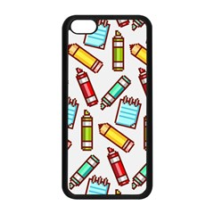 Seamless Pixel Art Pattern Apple Iphone 5c Seamless Case (black)