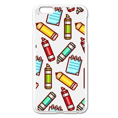 Seamless Pixel Art Pattern Apple Iphone 6 Plus/6s Plus Enamel White Case