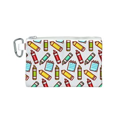 Seamless Pixel Art Pattern Canvas Cosmetic Bag (s)