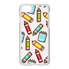 Seamless Pixel Art Pattern Apple Iphone 7 Seamless Case (white)