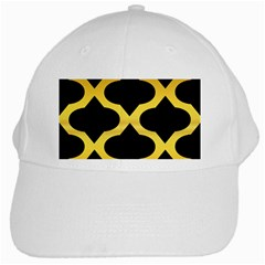 Seamless Gold Pattern White Cap