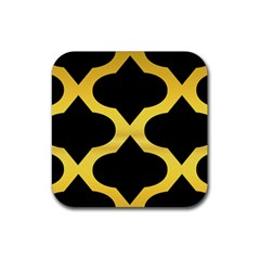 Seamless Gold Pattern Rubber Coaster (square)