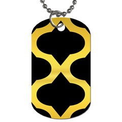 Seamless Gold Pattern Dog Tag (two Sides)
