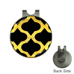 Seamless Gold Pattern Hat Clips With Golf Markers