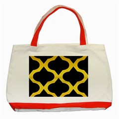 Seamless Gold Pattern Classic Tote Bag (Red)