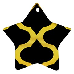 Seamless Gold Pattern Star Ornament (Two Sides)