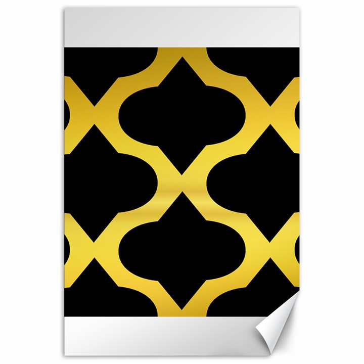 Seamless Gold Pattern Canvas 20  x 30