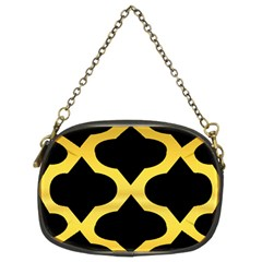 Seamless Gold Pattern Chain Purses (two Sides)