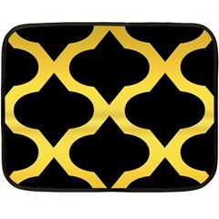 Seamless Gold Pattern Fleece Blanket (mini)