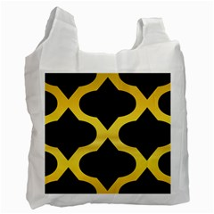 Seamless Gold Pattern Recycle Bag (one Side)