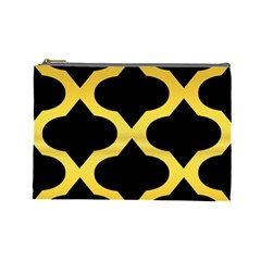 Seamless Gold Pattern Cosmetic Bag (large)