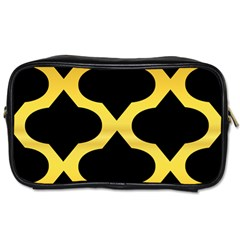 Seamless Gold Pattern Toiletries Bags 2 Side