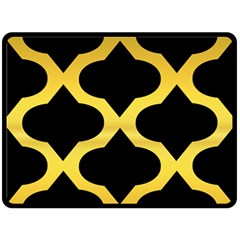 Seamless Gold Pattern Fleece Blanket (large)