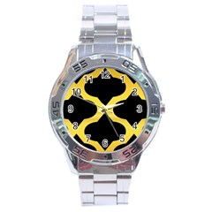 Seamless Gold Pattern Stainless Steel Analogue Watch