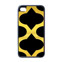 Seamless Gold Pattern Apple Iphone 4 Case (black)