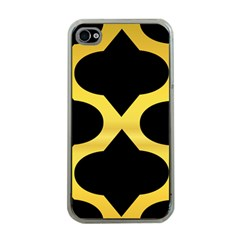 Seamless Gold Pattern Apple Iphone 4 Case (clear)
