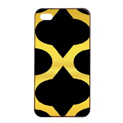 Seamless Gold Pattern Apple Iphone 4/4s Seamless Case (black)
