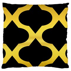 Seamless Gold Pattern Large Cushion Case (two Sides)