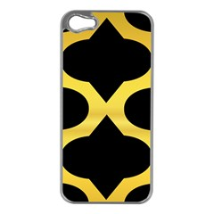 Seamless Gold Pattern Apple Iphone 5 Case (silver)