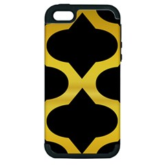 Seamless Gold Pattern Apple Iphone 5 Hardshell Case (pc+silicone)