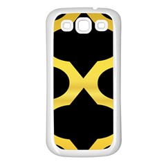 Seamless Gold Pattern Samsung Galaxy S3 Back Case (white)