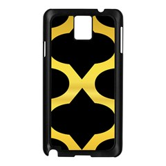 Seamless Gold Pattern Samsung Galaxy Note 3 N9005 Case (black)