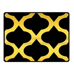 Seamless Gold Pattern Double Sided Fleece Blanket (small)