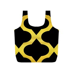 Seamless Gold Pattern Full Print Recycle Bags (s)