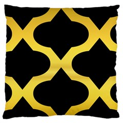 Seamless Gold Pattern Large Flano Cushion Case (two Sides)