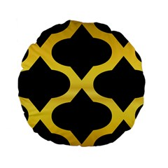Seamless Gold Pattern Standard 15  Premium Flano Round Cushions