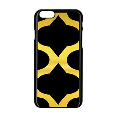 Seamless Gold Pattern Apple Iphone 6/6s Black Enamel Case