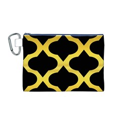 Seamless Gold Pattern Canvas Cosmetic Bag (m)
