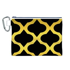 Seamless Gold Pattern Canvas Cosmetic Bag (l)