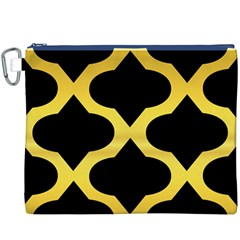 Seamless Gold Pattern Canvas Cosmetic Bag (xxxl)