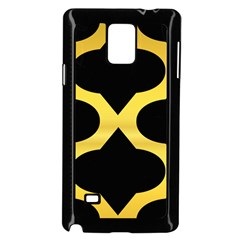 Seamless Gold Pattern Samsung Galaxy Note 4 Case (black)