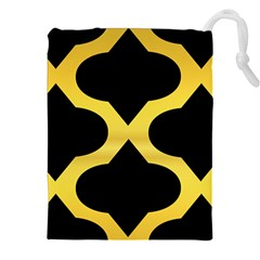 Seamless Gold Pattern Drawstring Pouches (xxl)