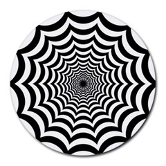 Spider Web Hypnotic Round Mousepads