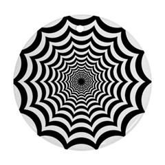 Spider Web Hypnotic Ornament (round)