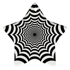 Spider Web Hypnotic Ornament (star)