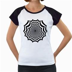Spider Web Hypnotic Women s Cap Sleeve T