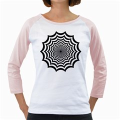 Spider Web Hypnotic Girly Raglans