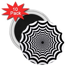 Spider Web Hypnotic 2 25  Magnets (10 Pack)