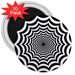 Spider Web Hypnotic 3  Magnets (10 Pack)