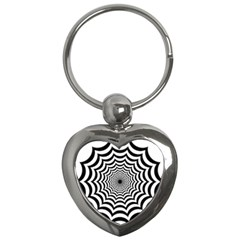 Spider Web Hypnotic Key Chains (heart)