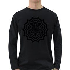 Spider Web Hypnotic Long Sleeve Dark T Shirts