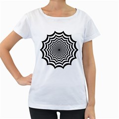 Spider Web Hypnotic Women s Loose Fit T Shirt (white)