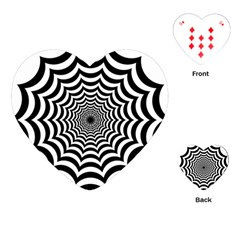 Spider Web Hypnotic Playing Cards (heart)